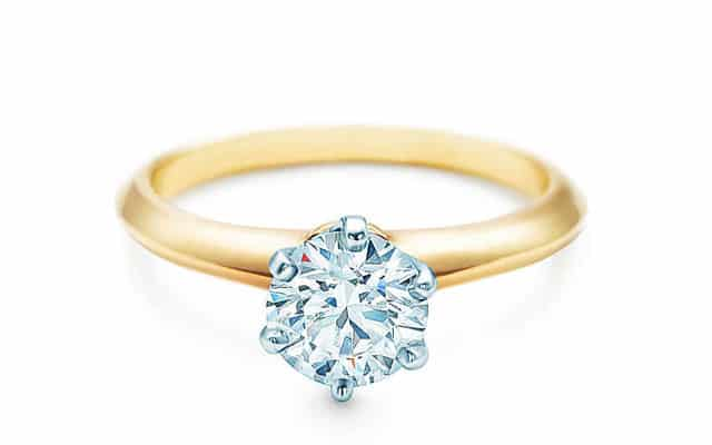 Tiffany & Co. anello di fidanzamento in oro giallo e diamante