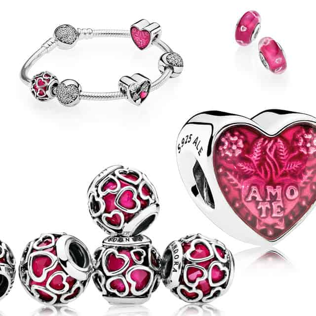 Pandora charms cuore amore