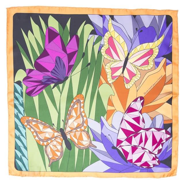 CHA•VAL_Carre 45 _ 70 _ 140 cm - butterflies orange