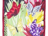 CHA•VAL_Carre 45 _ 70 _ 140 cm - butterflies red