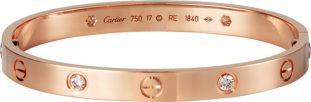 Cartier Love rose gold diamond