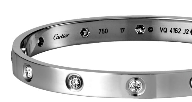 Cartier Love white gold with diamonds
