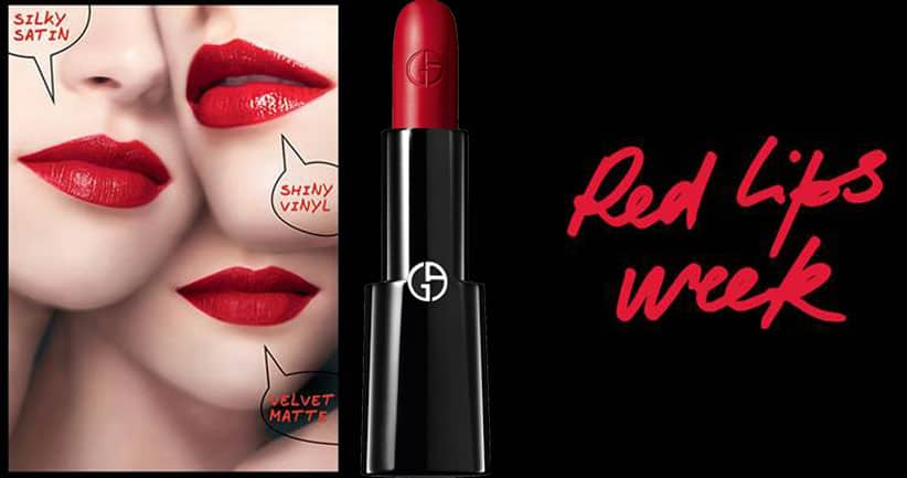 Giorgio Armani Beauty - Red Lips Week!