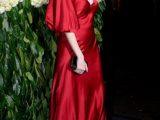 Lara Stone abbaglia con un abito di Alberta Ferretti