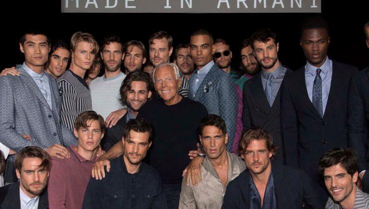 Giorgio Armani Moda uomo SS18 Giorgio Armani con modelli