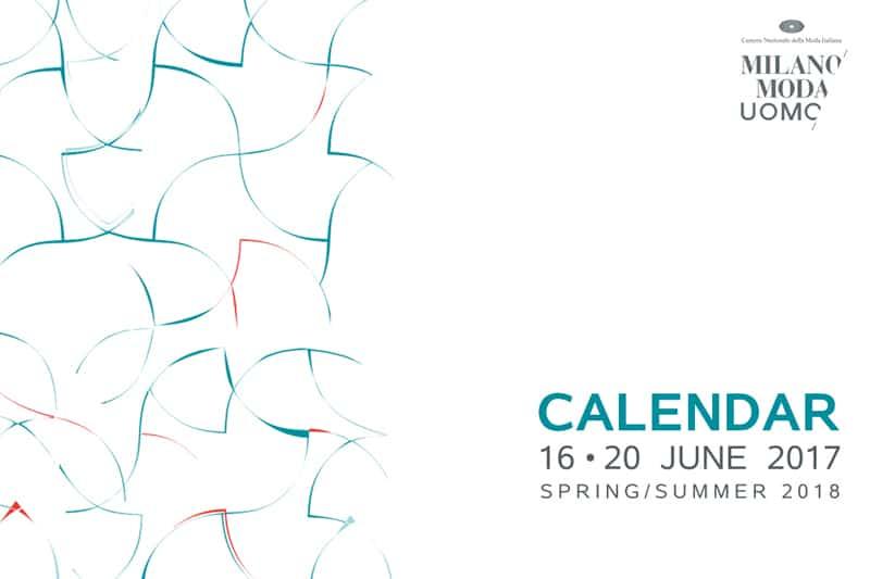 Sfilate calendario Milano Moda Uomo giugno 2017