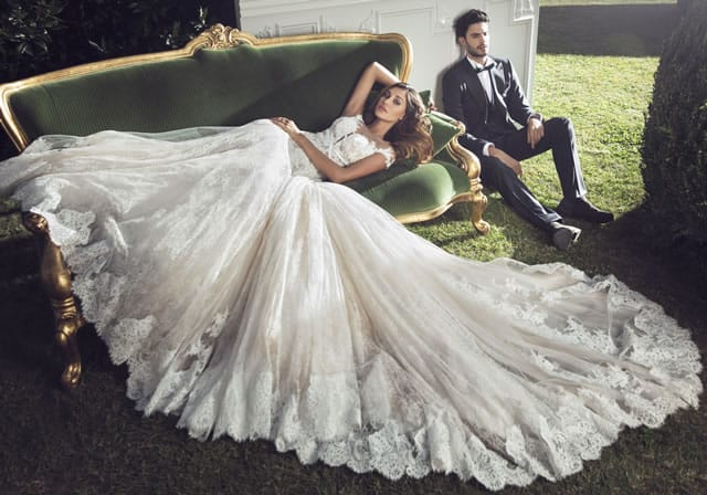 Belen Rodriguez abito da sposa Alessandro Angelozzi 02