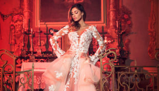 Belen Rodriguez sposa per Alessandro Angelozzi Couture