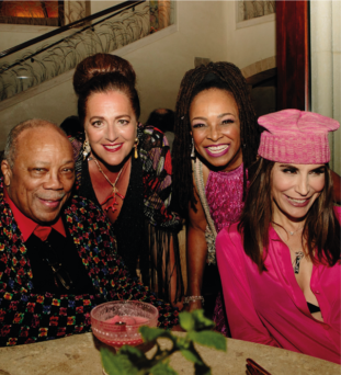 Quincy Jones, Angela Missoni, Siedah Garrett, Jo Champa