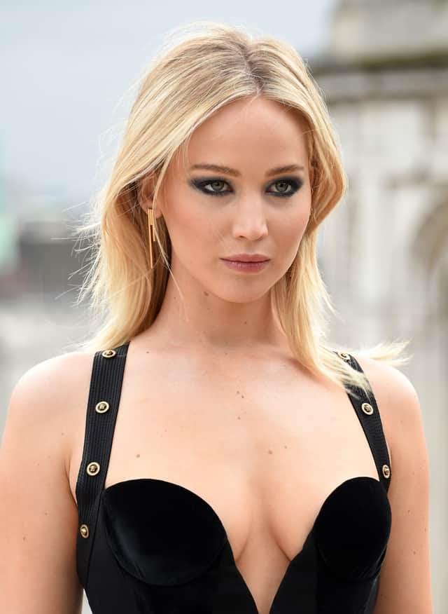 Jennifer Lawrence in Versace