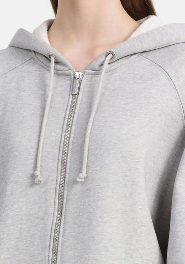 CALVIN KLEIN JEANS:  Felpa con logo con cappuccio e zip integrale