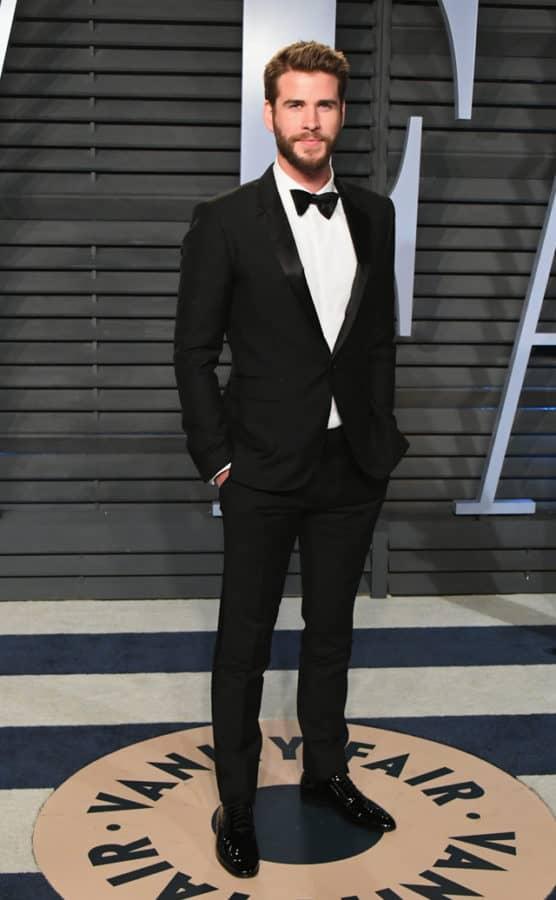 Liam Hemsworth in Burberry