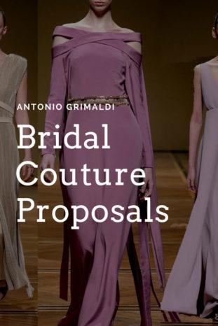 Antonio Grimaldi, abiti da sposa colorati