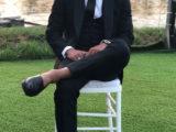 Rafinha indossa Salvatore Ferragamo al matrimonio di Sergi Roberto e Coral Simanovich