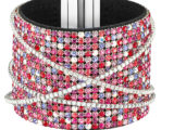 SVAROWSKI, bangle _Ludic_ con cristalli multicolor