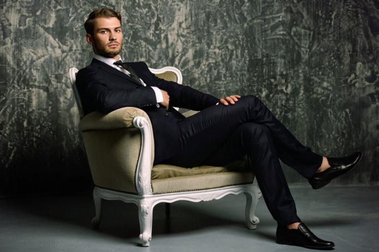 Abito elegante uomo