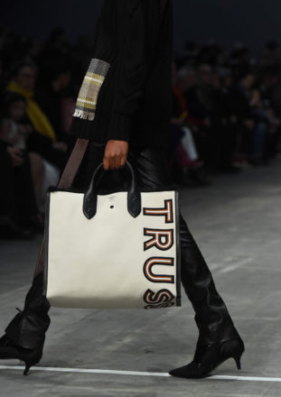 Shopping Bag TRUSSARDI con Maxi Logo