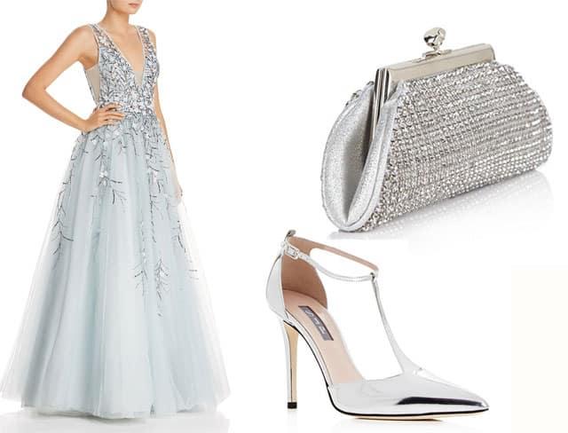 Basix punta sull'abito da ballo in azzurro