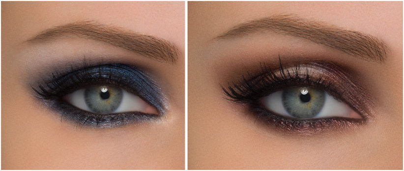 smokey-eye occhi verdi