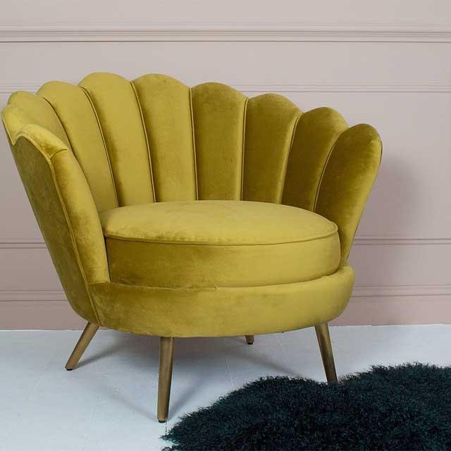 Gatsby Scalloped Velvet Armchair . £835