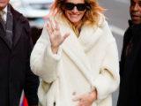 Julia Roberts con il Teddy Coat di Max Mara