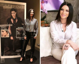 Laura Pausini in Stella McCartney