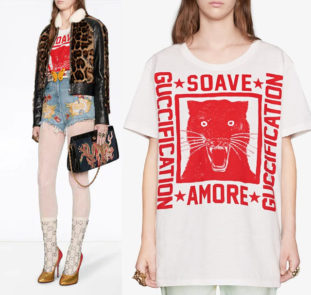 GUCCI - T-shirt 'Soave Amore Guccification'