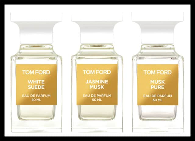 Tom Ford Beauty lancia white suede collection