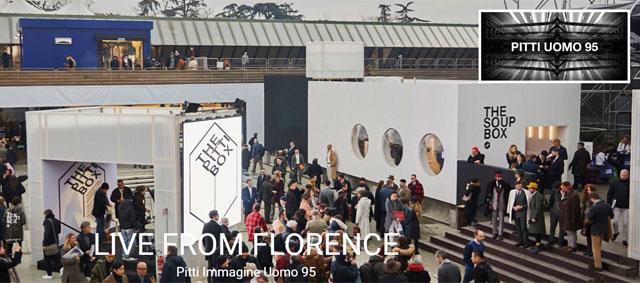 la 95esima edizione Pitti Uomo a Firenze