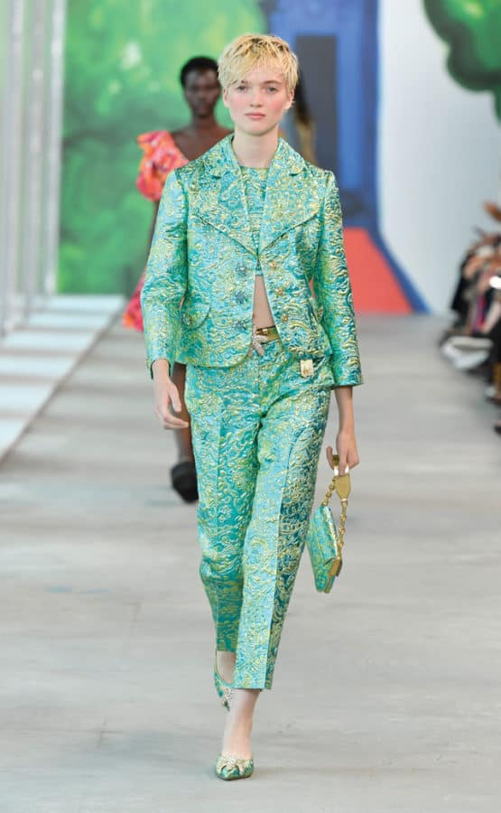 MICHAEL-KORS-COLLECTION,-tailleur-colorato-in-fantasia-broccata-flowers