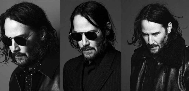 Keanu Reeves strega nelle immagini in bianco e nero della nuovaadvdiYves Saint Laurent.