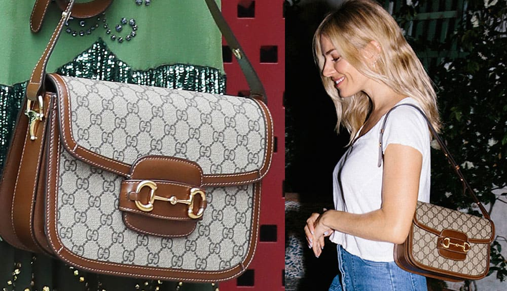 Lo spirito vintage della collezione si coniuga con l'estrema funzionalità e dalla morbidezza dei materiali. Spopola la Gucci 1955 Horsebit bag.