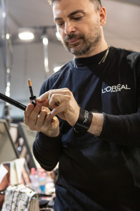 Il make up della sfilata di Elisabetta Franchi di Simone Belli, National Make-up Artist L'Oréal Paris ( foto press office)