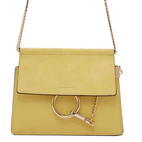Chloé . Green Mini Faye Bag