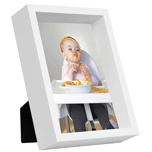 Box Cornice Portafoto, Bianco da 13x18 cm