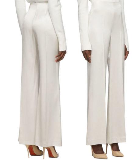 Joseph -Silver Silk Devyn Trousers