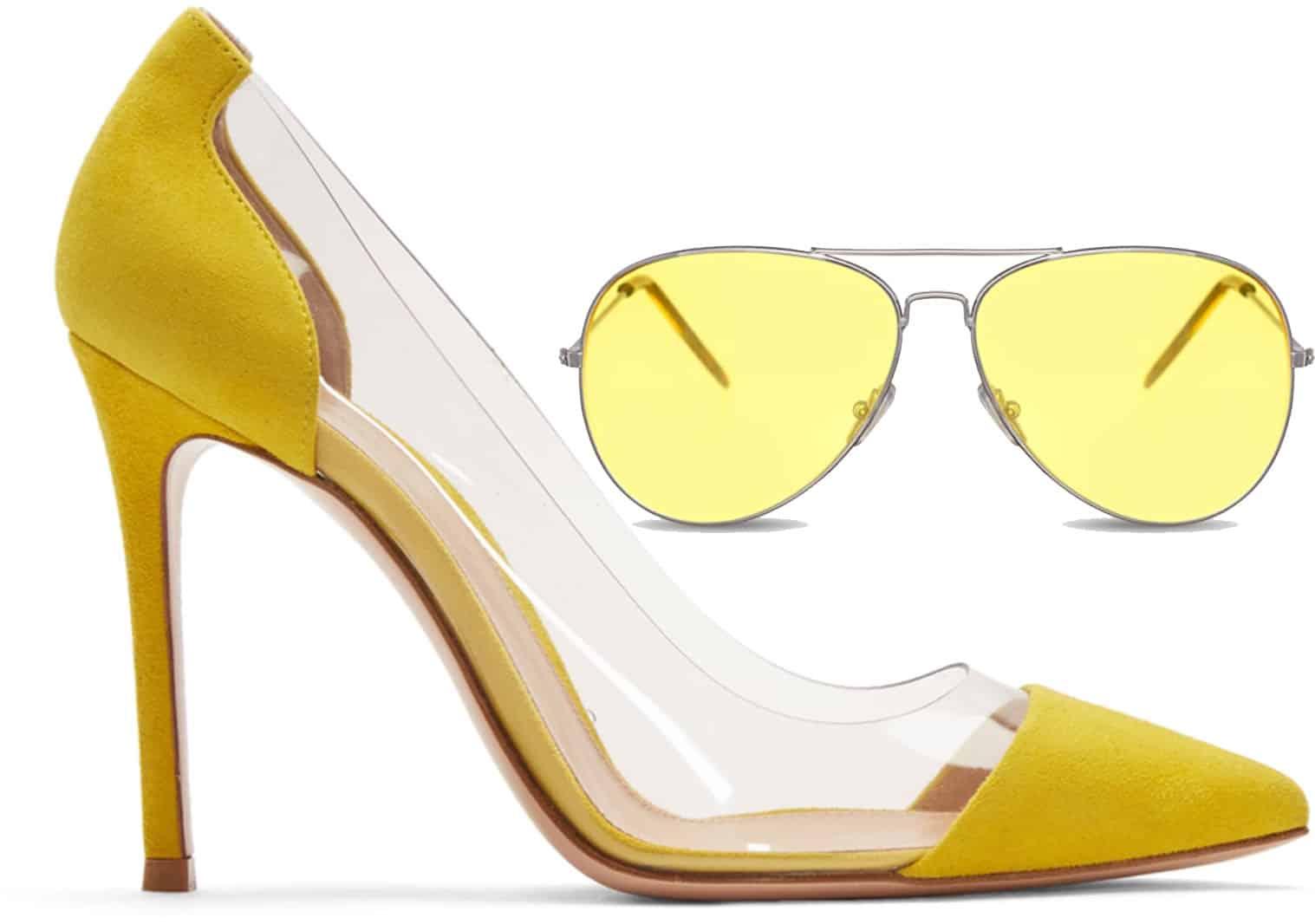 Le scarpe in plexiglass di Gianvito Rossi
