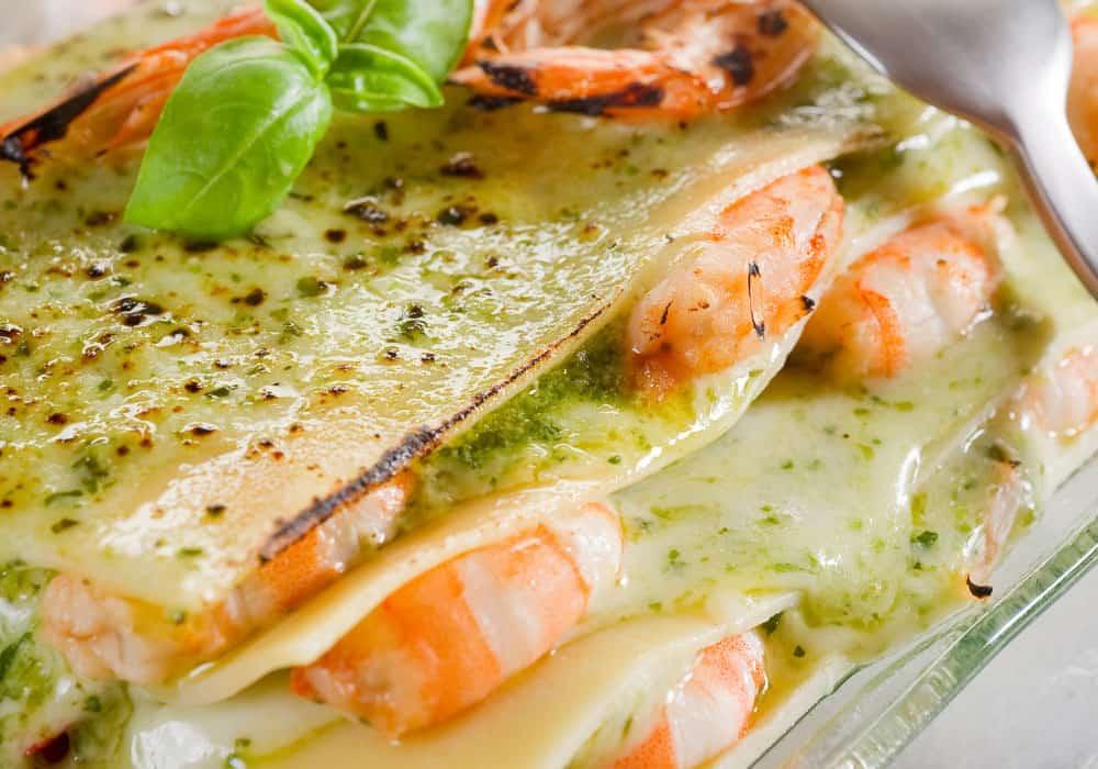 lasagna speciale con gamberetti