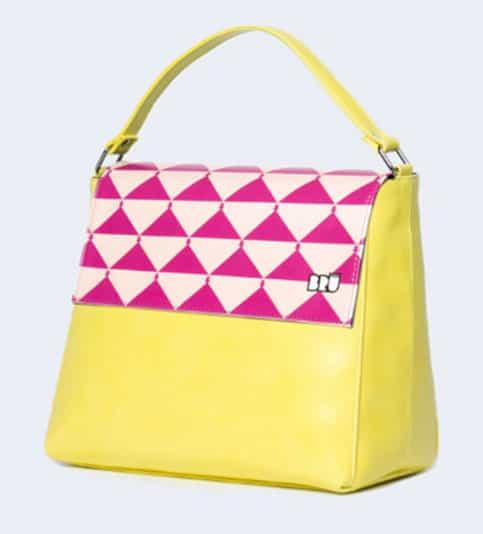 Zazzy, è la borsa in similpelle stampata del brand Bru' Milano