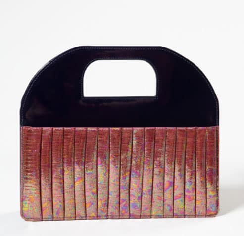 Silvya bag black shine è l'elegante borsa di Gaetano Pollice,
