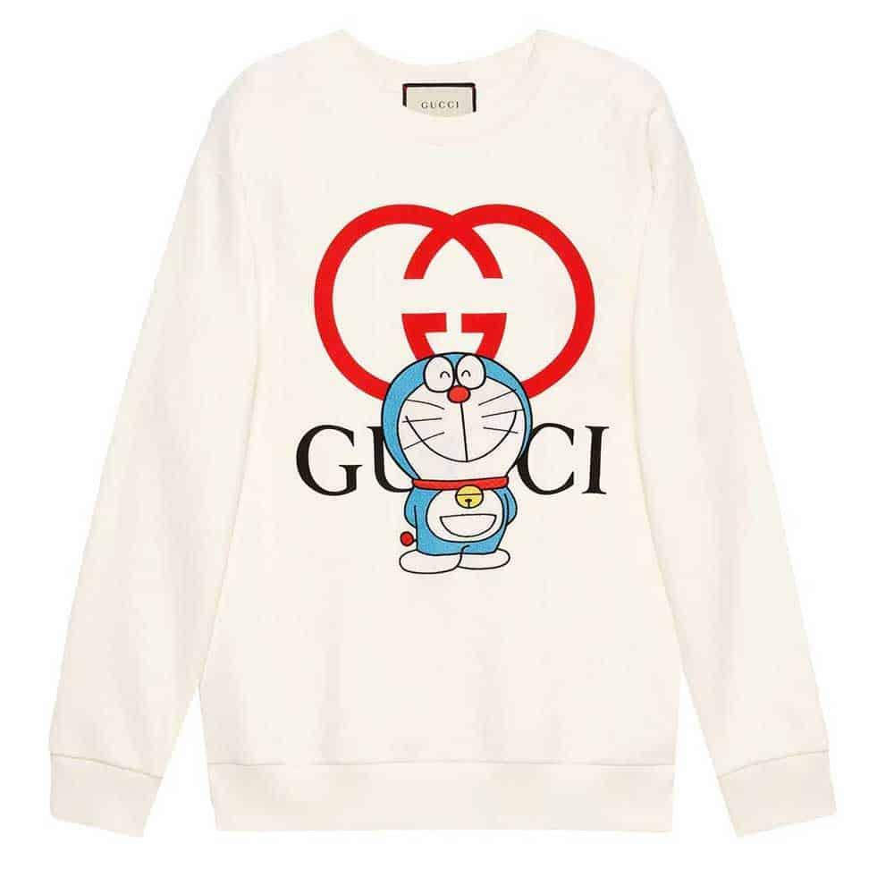 Felpa in cotone Doraemon x Gucci