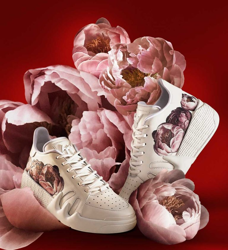 "Giuseppe Zanotti, la capsule collection ""Forever Bloom"""