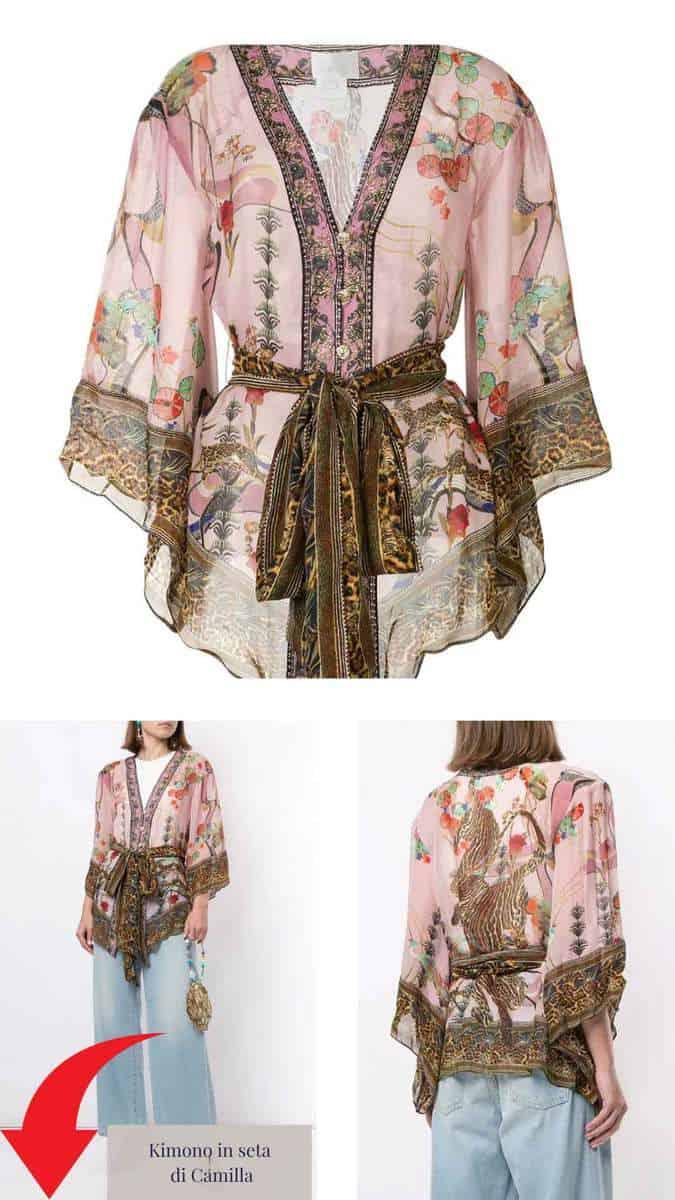 Kimono in seta di Camilla