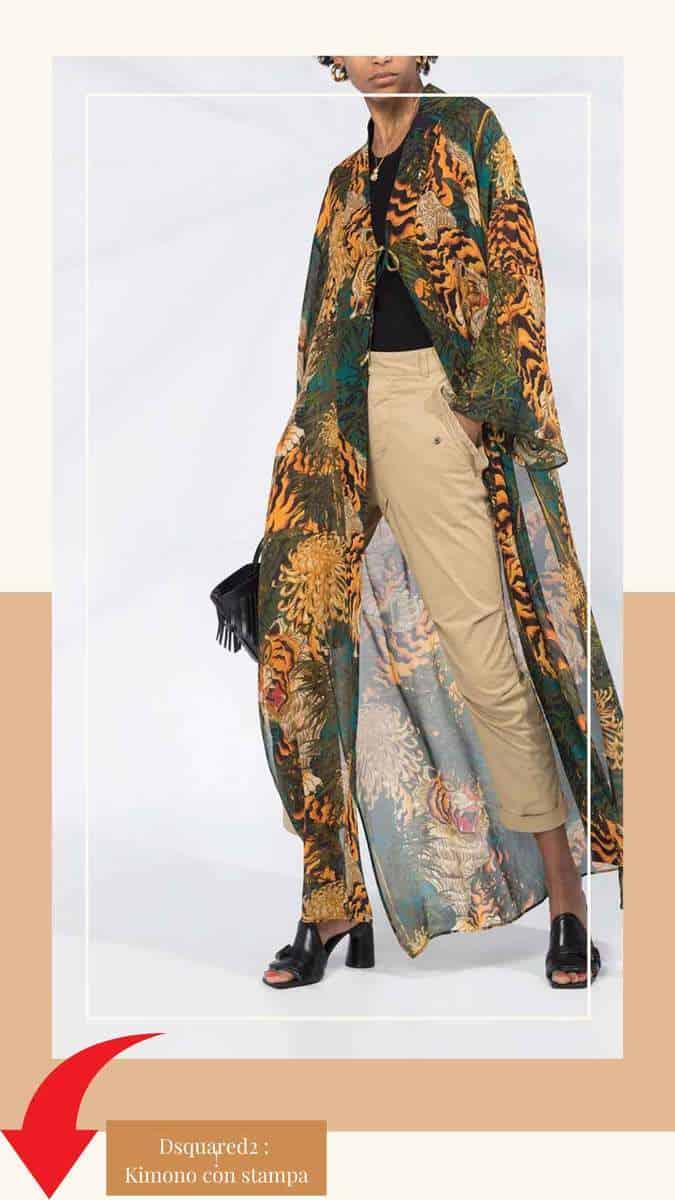 Dsquared2 : Kimono con stampa