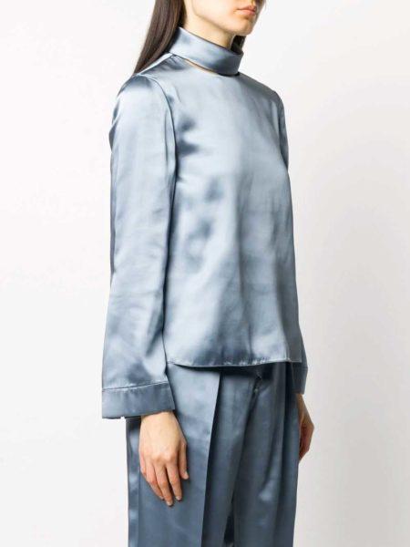 Emporio Armani - Blusa a collo alto thumb