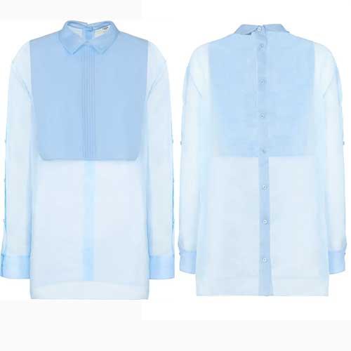 Fendi - Camicia effetto semi trasparente