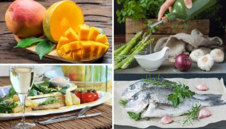 Orata con mango e frutta secca