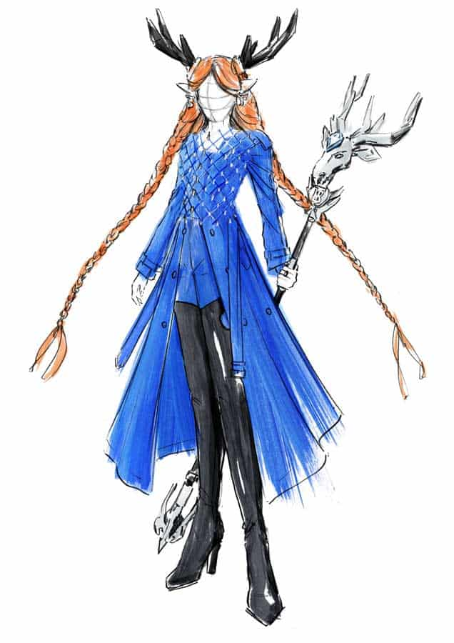 'The Spirit of The Forest and Ocean' Legend skin - sketch c Courtesy of Burberry