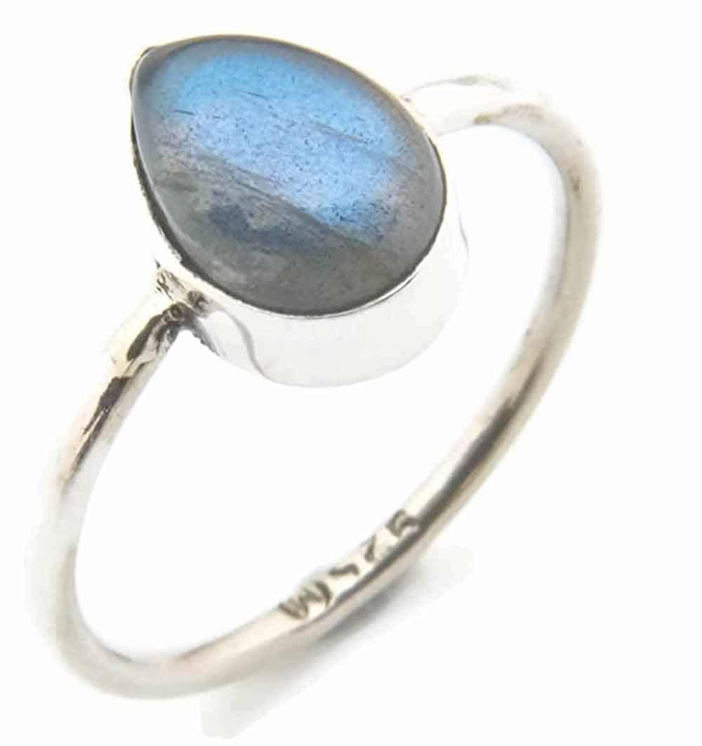Anello argento 925 con Labradorite