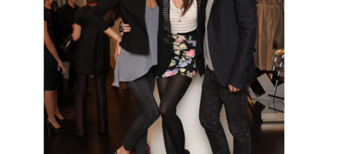 Rosie Huntington-Whiteley, Daisy Lowe and Christopher at Burberry Bond Street store for Fashion's Night Out